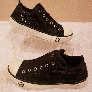 S Black Sequin Sparkle Laela Sneakers
